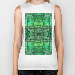 88 - green recycling bottles abstract Biker Tank