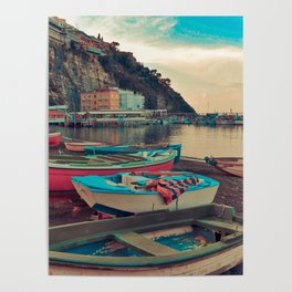 Boats of Sorrento Poster
