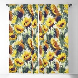 Sunflowers Forever Blackout Curtain