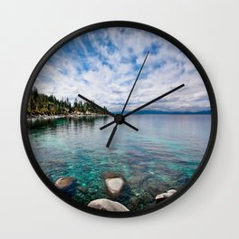 Tranquility Lake Tahoe Wall Clock