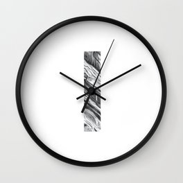 The Letter I- Stone Texture Wall Clock
