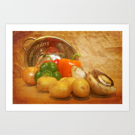 Cascading Vegetables Art Print