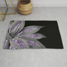Agave Finesse Glitter Glam #3 #tropical #decor #art #society6 Rug