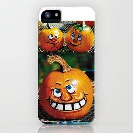 Pumpkin Faces iPhone Case