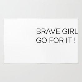 Brave girl Rug