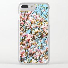 Vibrant Magnolias Clear iPhone Case