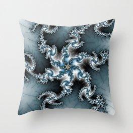 Fractal Shuriken Throw Pillow