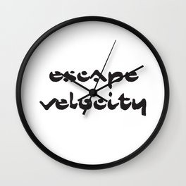 Chemical Brothers song, Escape velocity Wall Clock
