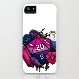 Pride Bisexual D20 Tabletop RPG Gaming Dice iPhone Case