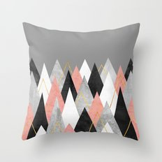 Rose Peaks Throw Pillow