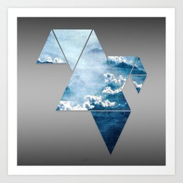 Fragmented Clouds Art Print