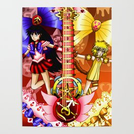 Sailor Mew Guitar #32 - Sailor Mars & Mew Pudding Poster