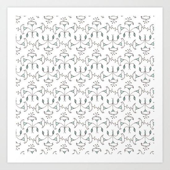 Flowers Pattern I Art Print