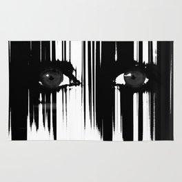Black and White Dramatic Eyes Rug