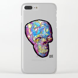 Painted Skull Clear iPhone Case