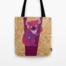 Koala bear in tree - illustration Tote Bag
