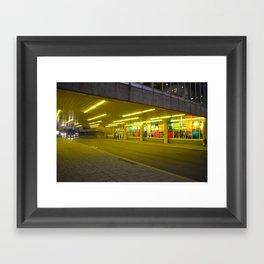 Bright Yellow Underpass Framed Art Print