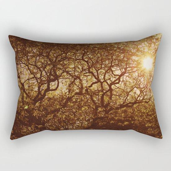 Shining through the trees Rectangular Pillow