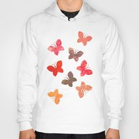 karu kara Hoodies featuring BUTTERFLY SEASON by Daisy Beatrice