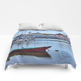 Eel Pond, Woods Hole Falmouth on Cape Cod in Massachusetts Comforters