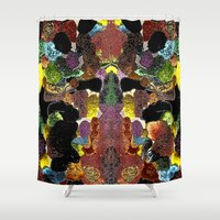 metallic Shower Curtains featuring metallic by gasponce