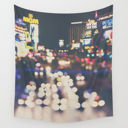 Las Vegas ... the neon town!  Wall Tapestry