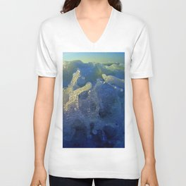 Message from the sea 09 /  Hopping wave Unisex V-Neck