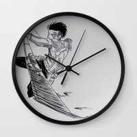 levi Wall Clocks featuring Levi - 2  by itspronouncedDEE-ANN-UH