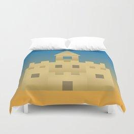 Sand Castle Sunshine Duvet Cover