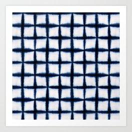 Shibori Squares Art Print