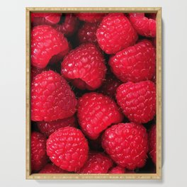 French Riviera Raspberries Serving Tray