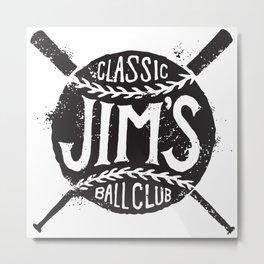 Classic Jim's Ball Club - Tshirt Metal Print