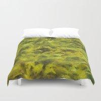 moss Duvet Covers featuring moss by Adela Casacuberta