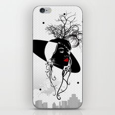 mysterious woman iPhone & iPod Skin