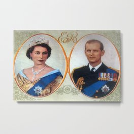 Queen Elizabeth 11 & Prince Philip in 1952 Metal Print