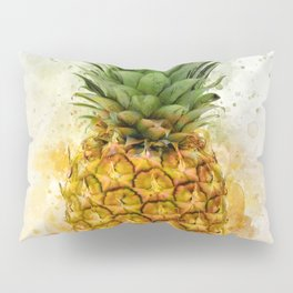 Watercolor Pineapple Pillow Sham