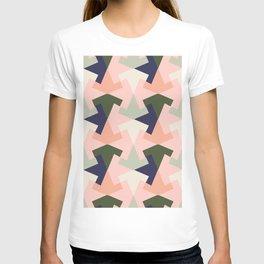 Retro pattern geometric T-shirt