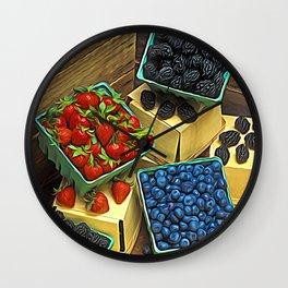 Boxed Berries Wall Clock
