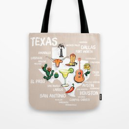 Classic Texas Icons Tote Bag