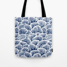 Mushroom Pattern - Dark Blue Tote Bag