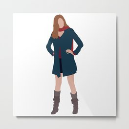 Amy Pond: The Girl Who Waited Metal Print