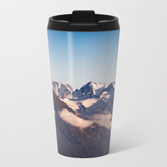 Snowy Peaks Metal Travel Mug