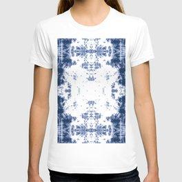 Shibori Tie Dye 5 Indigo Blue T-shirt