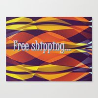 free shipping Canvas Prints featuring Free shipping by Miguel Á. Núñez I.