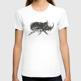 Beetle 1. Black on white background T-shirt