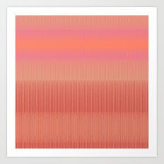 Sunset   Modern Abstract Colorful Pattern Art Print