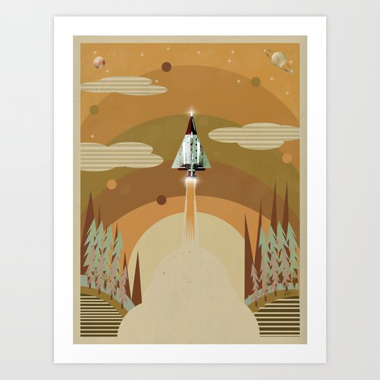 the adventure continues Art Print