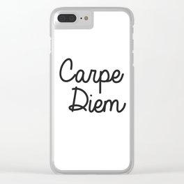 Carpe diem Seize the day print Clear iPhone Case