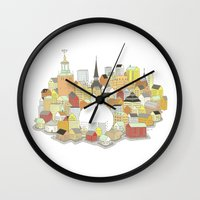 stockholm Wall Clocks featuring Stockholm by eoillustrations