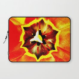 Orange Red Calyx Laptop Sleeve
